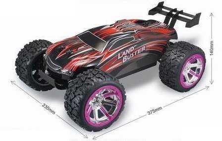 NQD Land Buster Monster-Truck távirányítós autó 1:12 méretű 27/40MHz KÉK
