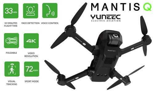 YUNEEC Mantis Q selfie drón